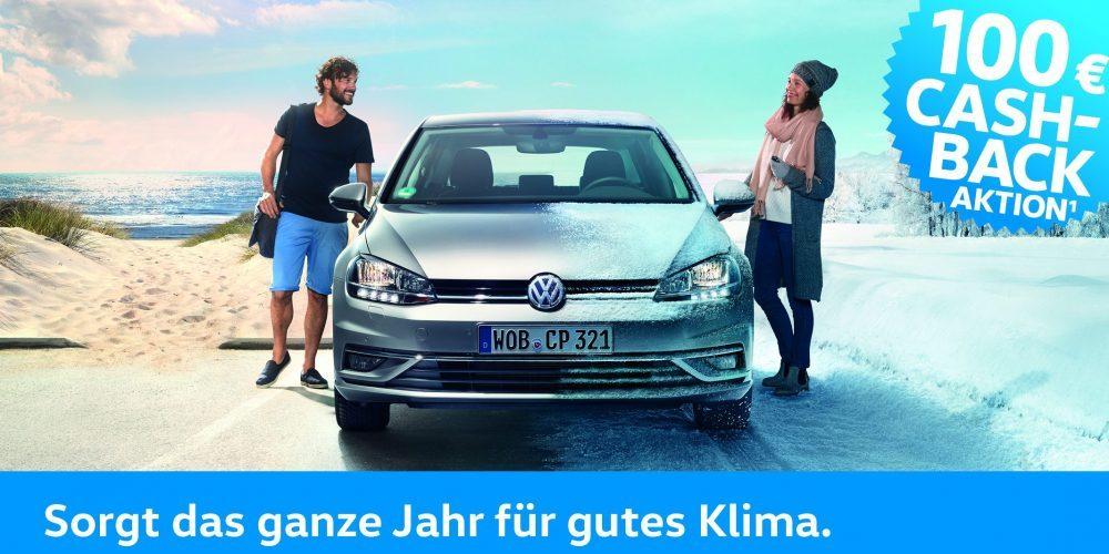 Die Volkswagen Standheizung. Jetzt mit 100 € Cash Back.