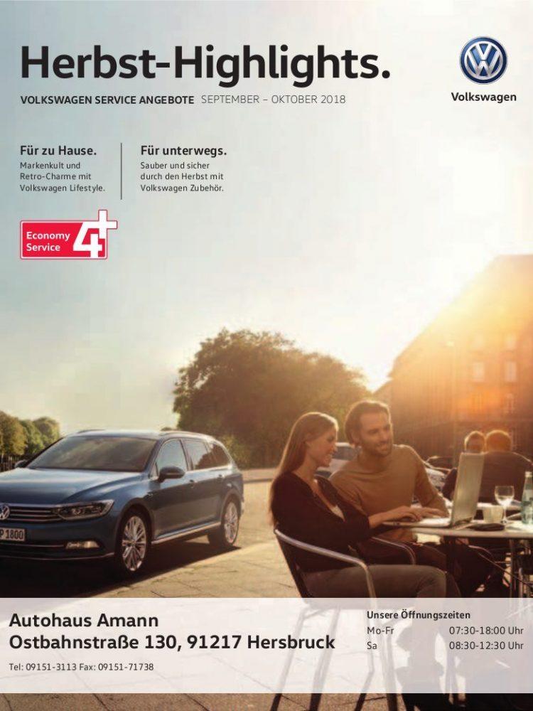 VW Prospekt September – Oktober 2018