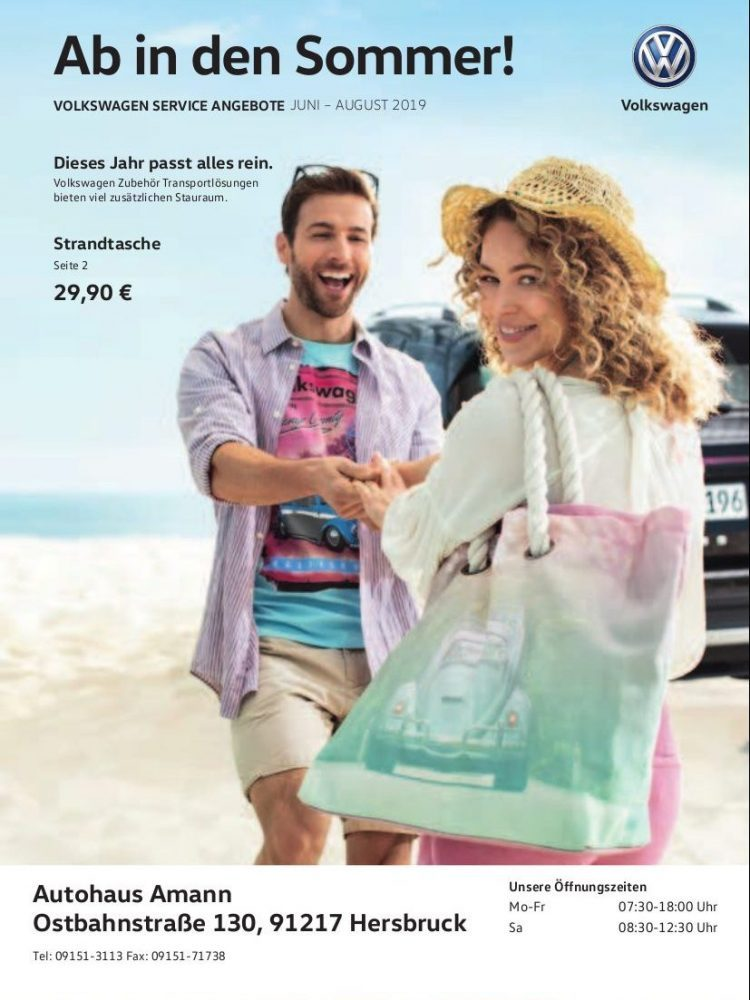 VW-Prospekt Juni – August 2019
