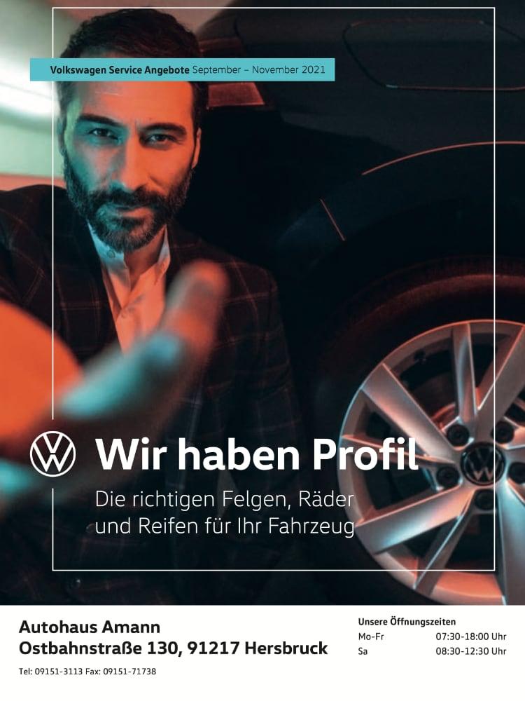 Volkswagen Service Angebote September – November 2021